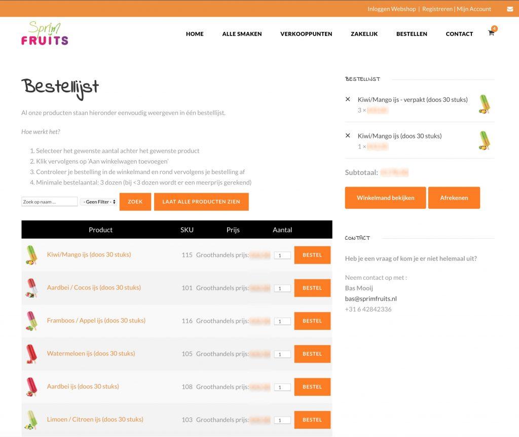 Webshop sprimfruits